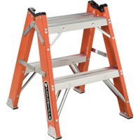 L-3433 Series - Extra Heavy-Duty Twin Front Step Stool VD426 | Waymarc Industries Inc